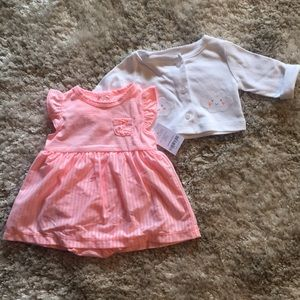 Carters Dress and Sweater Set